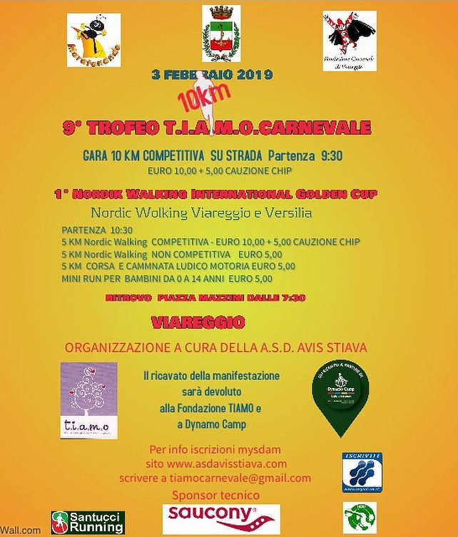 3 febbraio 2019  9° Trofeo T.I.A.M.O.CARNEVALE